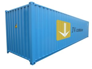 40 ft DC Container (40 ft Dry Cube container, ISO container) - side view   jvcontainer.com - shipping containers, ISO containers at best price