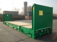 40 ft Flatrack Container (40 ft Flat Rack container) - side view | jvcontainer.com - shipping containers and special containers at best price