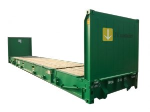40 ft Flatrack Container (40 ft Flat Rack container) - side view   jvcontainer.com - shipping containers and special containers at best price