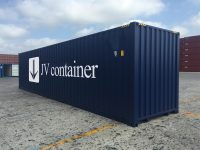 40 ft HC Container at best price (40 ft High Cube ISO container) side view | jvcontainer.com - buy or rent shipping containers at best prices