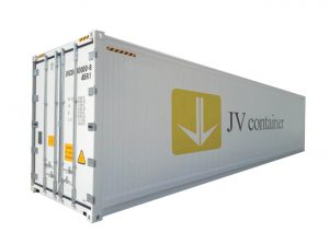 40 ft RF Container (40 ft refrigerated container) side view   jvcontainer.com - buy or rent shipping containers at best prices
