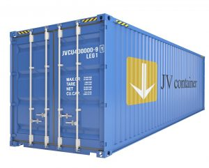45 ft DC container (45 ft Dry Cube container, ISO container) - side view   jvcontainer.com - shipping containers and special containers at best price